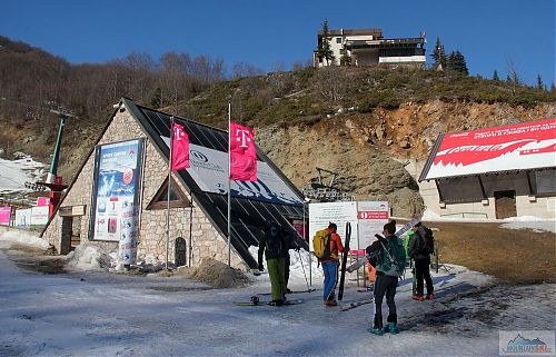At the lower station of Mavrovo ski resort